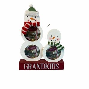 Snowman grandkids photo decoration